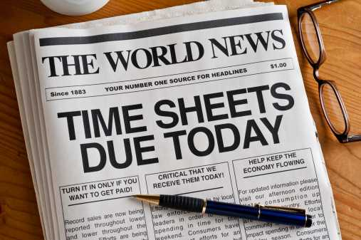 Timesheets due
