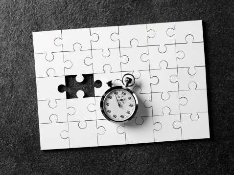Puzzle and stopwatch