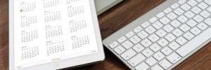 Calendar and keyboards