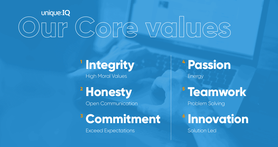 unique iq's core values