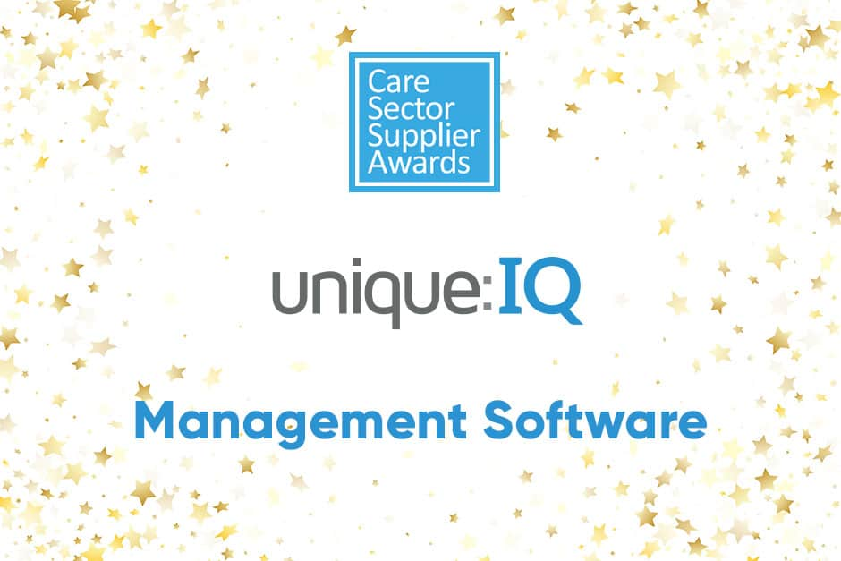 Care Sector Supplier Awards winner - Management Software